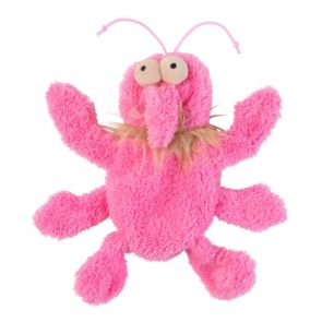 FuzzYard Flat Out Nasties - Scratchette The Flea Dog Toy - Pink