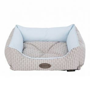 Scruffs Siesta Dog Box Bed - Cool Blue