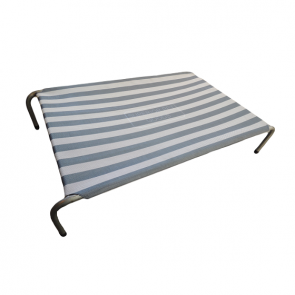 Superior Pet Heavy Duty Flea Free Raised Dog Bed - Grey Stripe